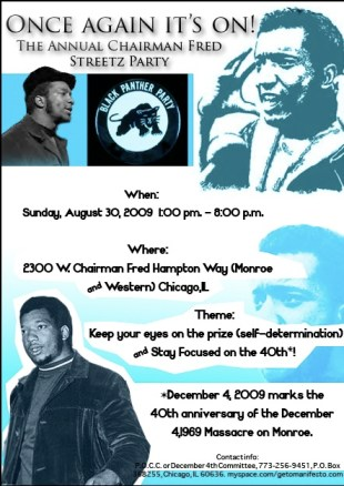 Meet Chairman Fred Hampton Jr. at his annual Streetz Party in Chicago on Aug. 30. More information is at the end of this story.