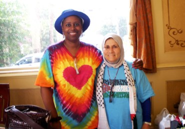 "Days after her release from an Israeli prison, Cynthia McKinney joined British Member of Parliament George Galloway and his aid convoy Viva Palestina attempting to break the blockade into Gaza through Egypt. Surmounting interminable obstacles, Cynthia wrote on July 15, ""I made it to Gaza!"" The fact that among over 200 people in the delegation, the only three beside Galloway who are well known - McKinney, NY City Councilman Charles Barron and M-1 of dead prez - are Black made this triumph all the more significant. - Photo: Courtesy Cynthia McKinney"