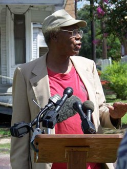 Houston hero Lenwood Johnson has been organizing residents of Freedmen's Town in 4th Ward for over 30 years, fighting demolition and gentrification of the city's oldest Black neighborhood. He reminds everyone of the price paid by the founders to make a home for their people in perpetuity: The bricks that pave many of the historic streets in Freedmen's Town were hand made over a century ago by formerly enslaved Africans.