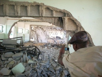 M1 photographs four classrooms of a school in Gaza that was hit by an Israeli missile.