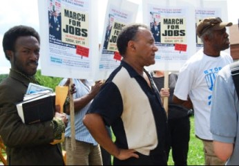 March for Jobs organizers held a Block Party Aug. 22 to build support for the march in the Hill district of Pittsburgh. The corporate media have attempted to paint the jobs march and tent city as a disruptive and unnecessary nuisance to community residents. Instead, organizers explained, the march will help fight gentrification.