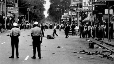The Detroit Rebellion of 1967, though sparked by police violence, is attributed largely to rising unemployment. This was the scene at 12th Street and Clairmount on Saturday, July 23, 1967.