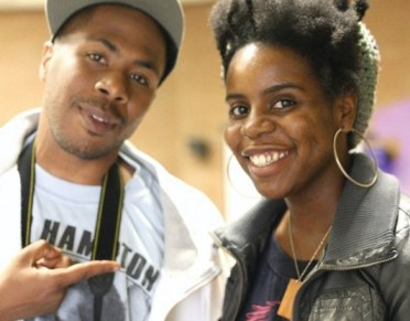 "Minister of Information JR and his partner in filmmaking Angela Carroll presented their flick, ""Operation Small Axe,"" at the 43rd reunion of the Black Panther Party at Laney College, on Oct. 24. – Photo: Malaika Kambon"