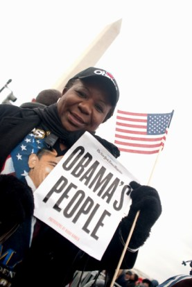 Obama's people greeted his inauguration as no new president has ever been greeted. Of the 1.8 million people who packed the Washington Mall in freezing weather, some say nearly half were Black. Many carried flags who had never had reason to wave one before. – Photo: Kimara