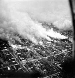 The assassination of Dr. King set the U.S. on fire. One of the 100 cities Mao mentions that were consumed by the firestorm was Washington, D.C., shown here April 5, 1968, the day after Dr. King died. In four days of rebellion, 1,200 buildings were burned and 12 people lost their lives.  Photo: AP