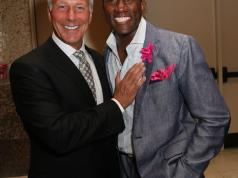 Steve Shapiro WSVN sports director with WSVN sports reporter Donovan Campbell