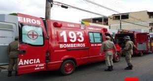Ambulâncias do Corpo de Bombeiros foto Vinnicius Cremonez