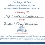 We Proudly support the Injured Marine Semper Fi Fund