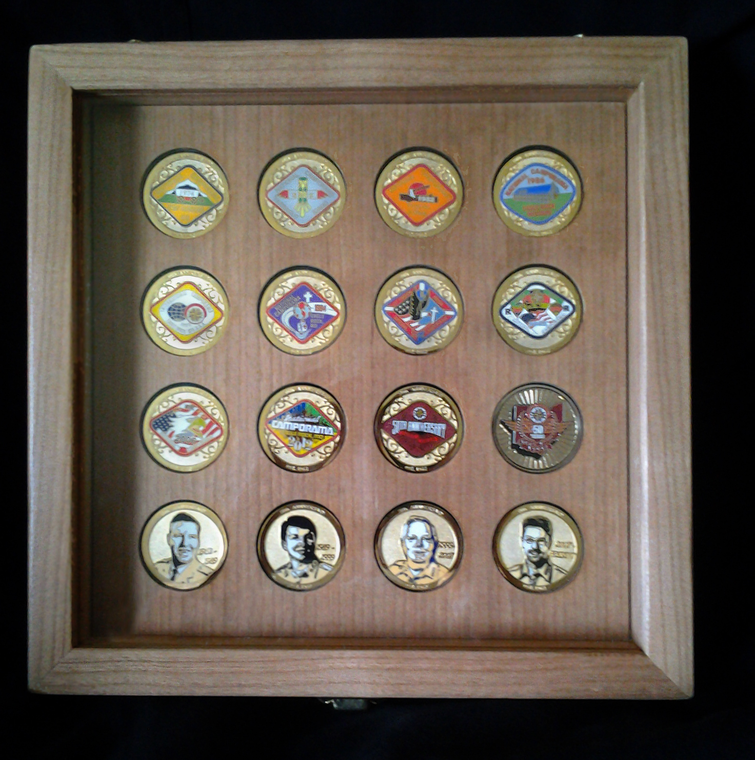 Riveting Mirrored Back Locking Challenge Coin Display Case Challenge Coin Wood Flag Case Mounted Challenge Coins By Greg Seitz Woodworking Challenge Coin Display Case houzz-02 Challenge Coin Display Case