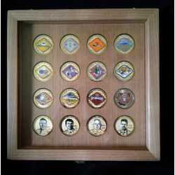 Riveting Mirrored Back Locking Challenge Coin Display Case Challenge Coin Wood Flag Case Mounted Challenge Coins By Greg Seitz Woodworking Challenge Coin Display Case