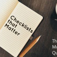 The Checklists that matter