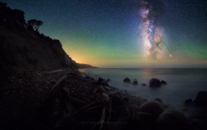 Milky Way Night Sky California Coastline