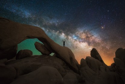 Galaxy Milky Way Arch Portrait Joshua Tree