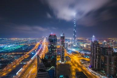Burj Khalifa Dubai City Night