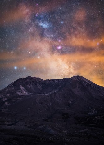 Milky Way Galaxy Mountain Mount St Helens