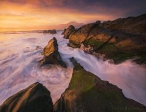Baker Beach Sunset Seascape.