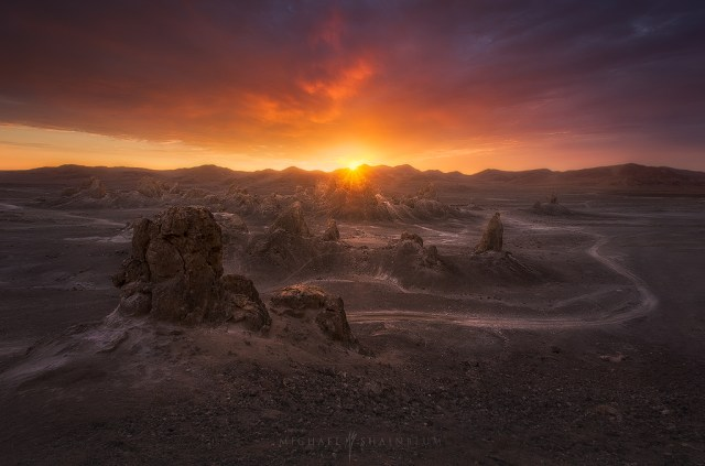 Trona Pinnacles Desert Sunset