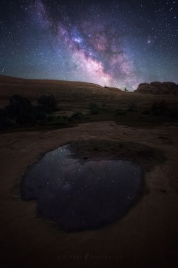 Reflection Utah Milky Way Night Sky