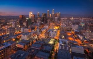 Downtown Los Angeles Skyline City Night