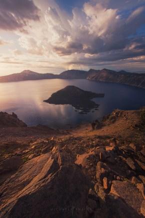 Sunrise Crater Lake Oregon