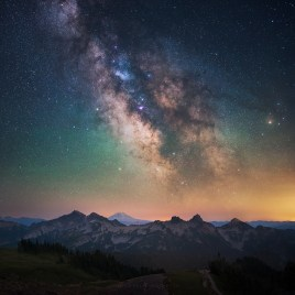 Milky Way Galaxy Mountain Range