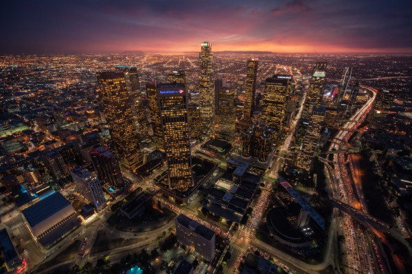 Aerial photo of Downtown Los Angeles