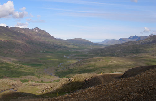 The Eastern Fjords of Iceland are incredible, but while the passengers are enjoying the view, the driver is clutching the wheel and trying not to skid down the sharp gravel switchbacks.