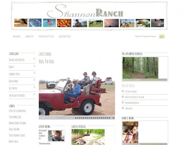 shannonranch wordpress