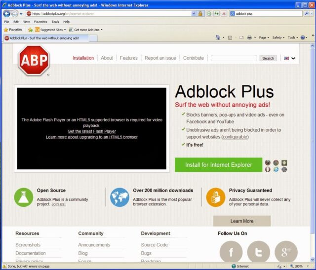 how to put adblock on internet explorer