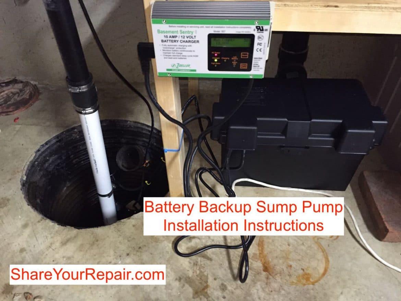 Battery Backup Sump Pump Installation Instructions - Share ...