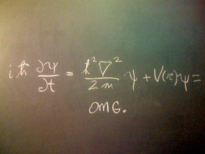 I have no idea if this equation means anything, but the OMG was funny so I added it :)