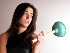 36377682 - lady with plungers