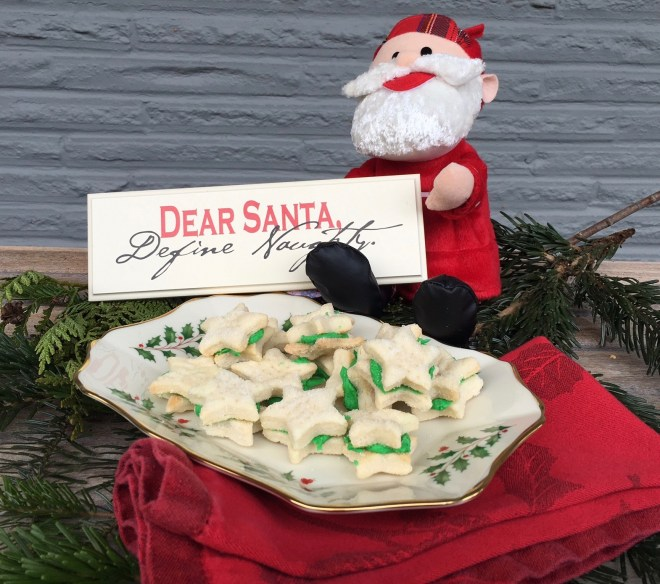 christmas cookies and santa