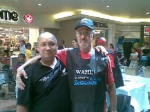 Oom Dries and I at Mountain Mill Mall, Worcester