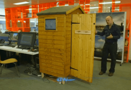 Using a shed to visualize how a building will look in 3d before it's built
