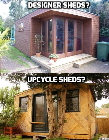 Shed Trends for 2015 - Will we see more of Designer or Upcycled sheds