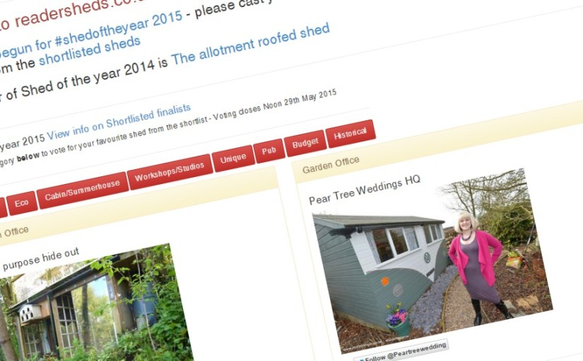 Garden Office category is live for #shedoftheyear