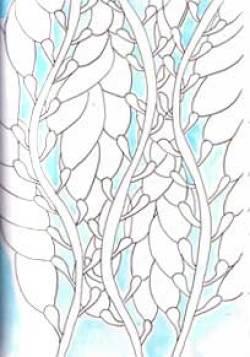 Kelp sketch, for pattern design.