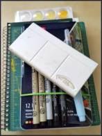 Art supplies for a road trip. sheiladelgado.com