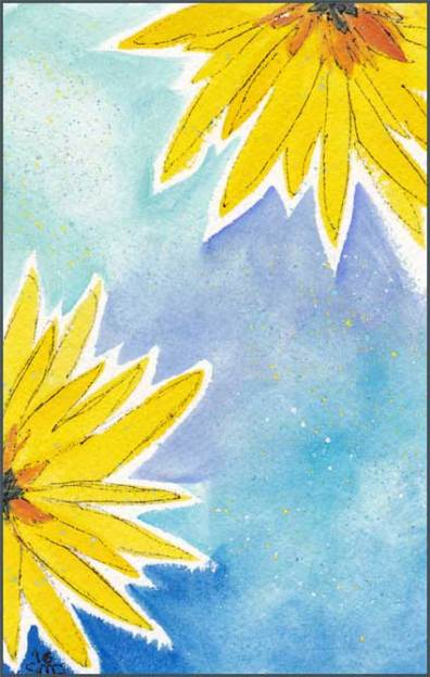 Postcard for a friend. Watercolor and pen on paper. © 2016 Sheila Delgado