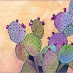 Purple Cactus Plant. 7 x 10 watercolor on Arches 140 lb. cold pressed paper. © 2016 Sheila Delgado
