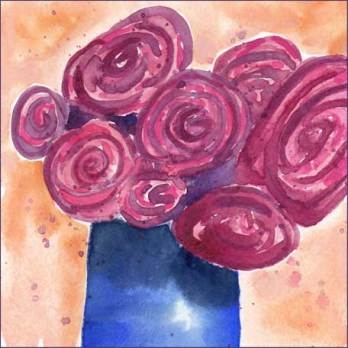 Ranunculus. 6 x 6 in. watercolor on paper. © 2016 Sheila Delgado