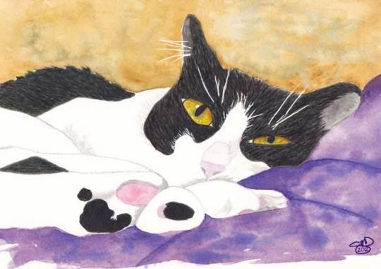 Life is Good. 5 x 7 Watercolor. © 2012 Sheila Delgado