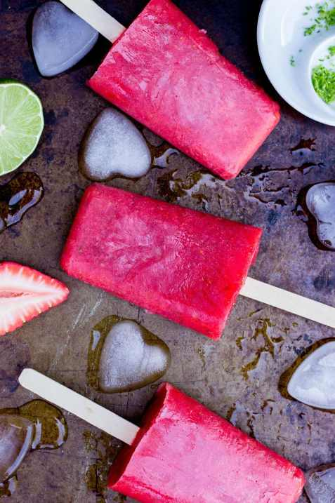 Strawberry Rhubarb & Lime Popsicles-7389