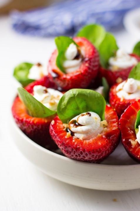 Goat Cheese & Spinach Stuffed Strawberries with Candied Walnuts & Balsamic Glaze-2915
