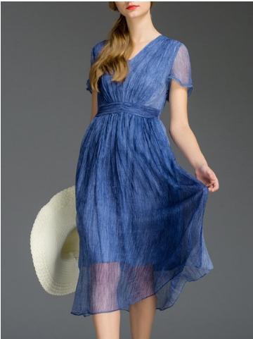 Style We short sleeve midi dress