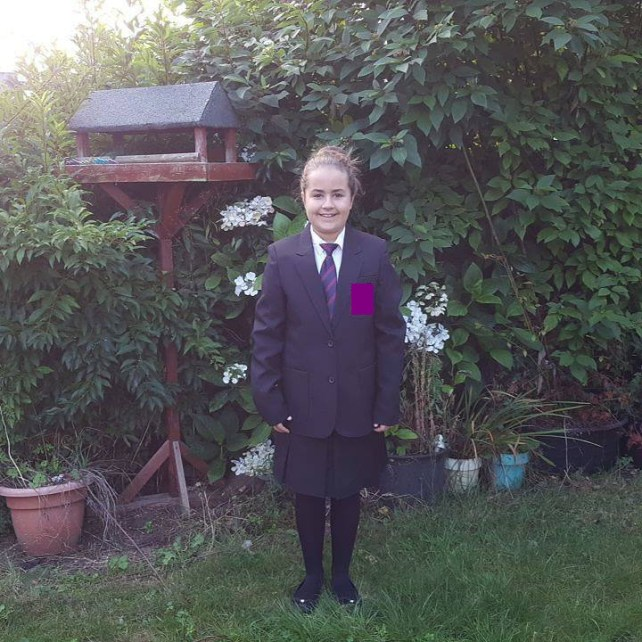 Biggest accomplishment Kaycee's first day of secondary school