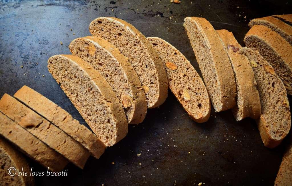Simple Classic Italian Honey Almond Cocoa Biscotti - She ...