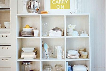 open shelves on kitchen 42