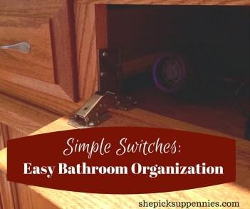Easy Bathroom Organization Under Sink
